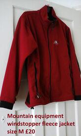 mountain equipment windstopper fleece jacket size M