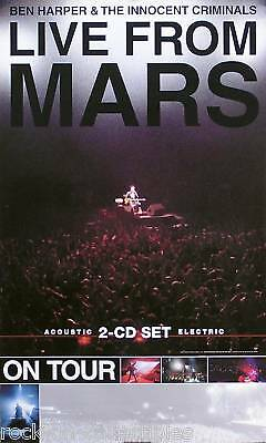 BEN HARPER 2001 LIVE FROM MARS TOUR PROMO POSTER