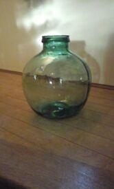Vintage Retro Green Glass VIRESA Indoor/Outdoor Garden Bottle Carboy