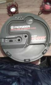 Pioneer amplified spare tire subwoofer