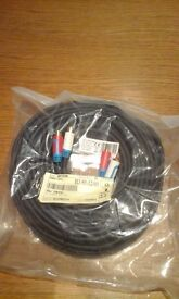 25 metres of twin phono cable