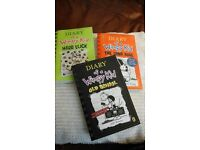 Diary of a Wimpy Kid set of 3 books brand new