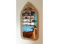 Gold Ornate Antique Style Cast Metal Mirror