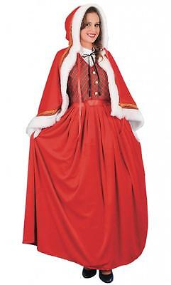 ADULT LUXURY JOLLY MRS CLAUS COSTUME Mrs Santa Christmas Fancy Dress Outfit - Jolly Santa Kostüm