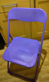 Purple Folding Chair