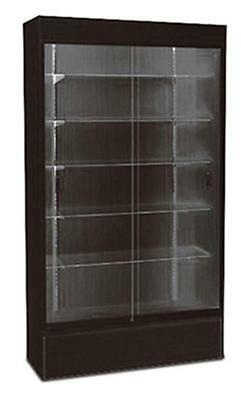 Wall Case Knockdown Showcase Glass Display Store Free Standing Black 48w New