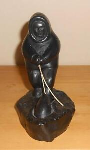 Boma Canada Inuit Seal Hunter Sculpture