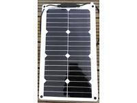 MARINE 20W Flexible Solar Panel Sunpower Solar Cells Titan Energy UK