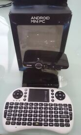 Android Webcam and Mini PC with HDMI, wireless keyboard - great for videoconferencing and games