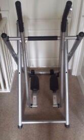 Air walker + 18kg curl bar
