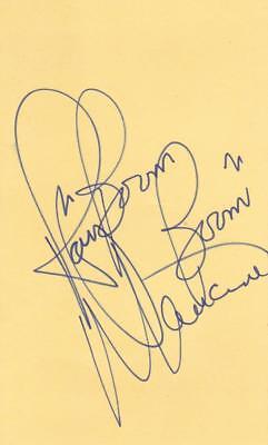 "RAY MANCINI Signed ""Boom Boom"" on 3X5 Index Card COA"