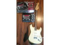 Chord CST 62 Electric Guitar + Digitech BP355 Guitar Multi Effect / RPR £320 BARGAIN / BOTH LIKE NEW