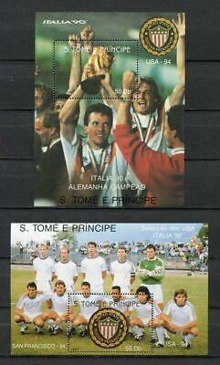 s6487) SAO TOME E PRINCIPE 1990 MNH** WC Football'90 - CM Calcio...