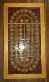 Nathan Furniture coffee table, ceramic tile surface 92 cm length x 51 cm width x 42 cm high