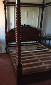 Solid Mahogany Four Poster King Size Bed