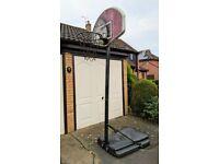 Portable basketball stand, hoop & net - full size