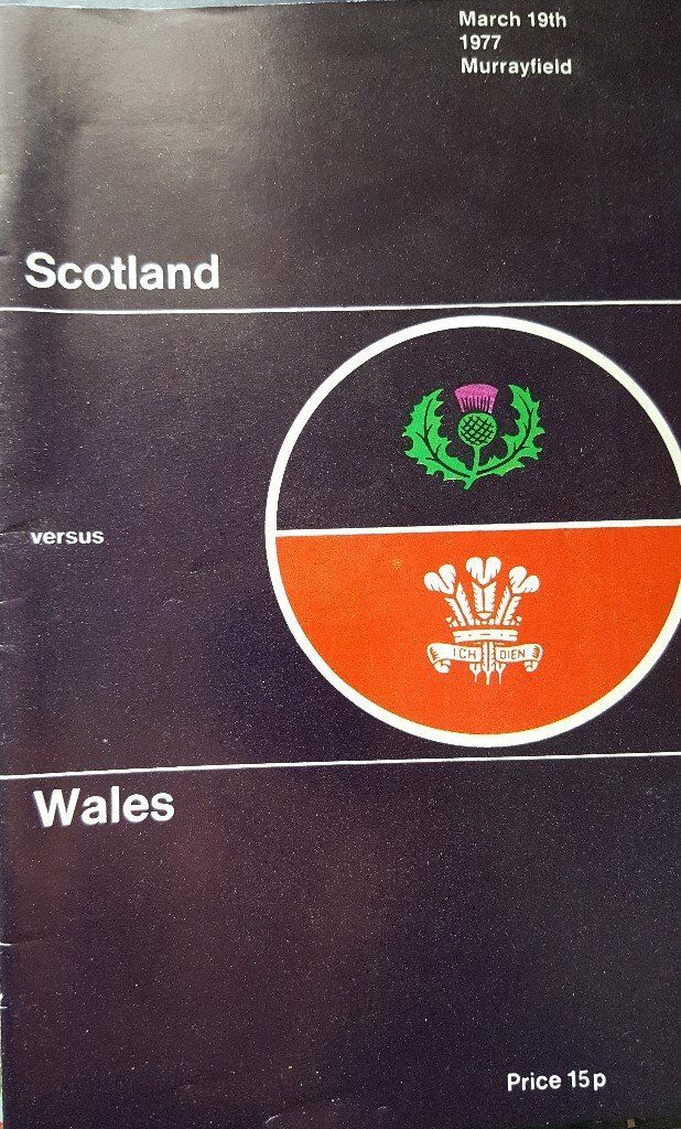 Rugby Union Programme: Scotland v Wales 1977 Triple Crown for Wales