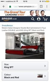 Bed for sale , red And black .