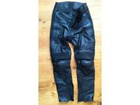 Spidi Leather motorcycle trousers.