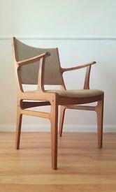 Six Mid-Century Teak Dining Chairs