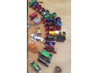 Die Cast Thomas Tank Collection. 16 engines, 4 vehicles and 7 carriages.
