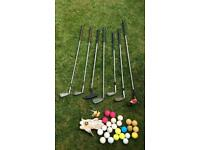 Wilson Sam Snead Golf Irons, Wood, Apollo Putter, Pitching Wedge - Right Hand + Balls and Glove