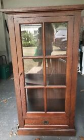 Mahogany display cabinet 1m wide