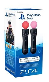 NEW SEALED PLAYSTATION MOVE CONTROLLERS TWIN PACK (PLAYSTATION VR)