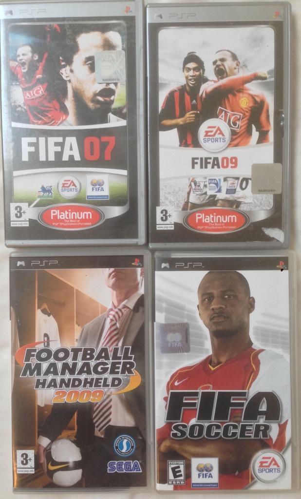 SONY PLAYSTATION PSP RARE RETRO GAMES FIFA 07 09 FIFA SOCCER FOOTBALL MANAGER HANDHELD