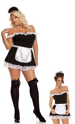 PLUS SIZE SEXY MAID LINGERIE DRESS COSTUME SIZE S/M M/L 1X/2X 3X/4X](Plus Size Maid Costumes)