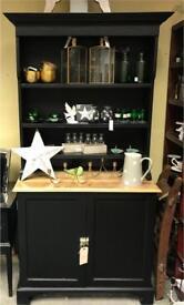 Black Painted Pine Dresser - Refurbished
