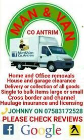 Removals service Man & Van Co Antrim
