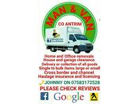 Removals service Man & Van Co Antrim
