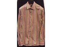 Paul Smith Tailored Shirt - Multi-coloured Signature Stripe - Medium/Large