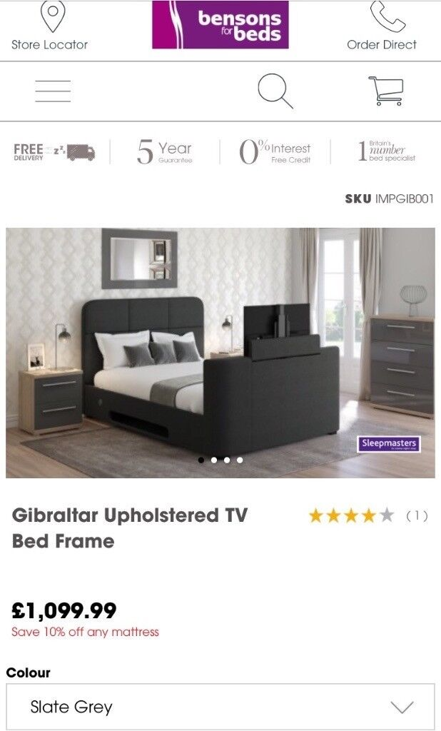 Gibraltar Tv Bed With Mattress Included Less Than Half Price Of Retail!