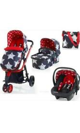 Cosatto stars travel system (car seat base included)