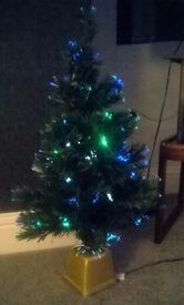 Small Fibre Optic Christmas Tree approx, 3ft tall