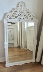 Lovely Large Shabby Chic Look Morris Mirror.