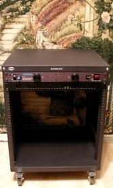 Samson SRK12 12-unit Equipment Rack w/locking casters+Furman PL-8E Power Conditioner