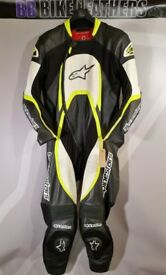 Alpinestars Trigger One Piece Motorcycle Leather Race Suit - EU 54 / UK 44 - BB Bike Leathers
