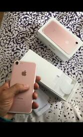 iPhone 7 Rose Gold 256GB in perfect condition