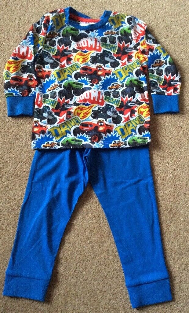 Boys Blaze PJs 2 - 3 Years - Brand New Without Tag - £4
