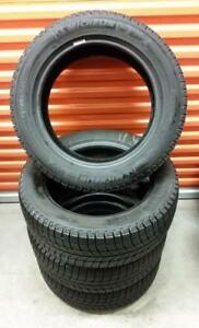 (ZH18) Pneus Hiver - Winter Tires 205-55-16 Michelin 2x 8/32 2x 9/32