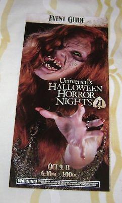HALLOWEEN HORROR NIGHTS XXI MAP EVENT GUIDE #3 UNIVERSAL ORLANDO 21 2011