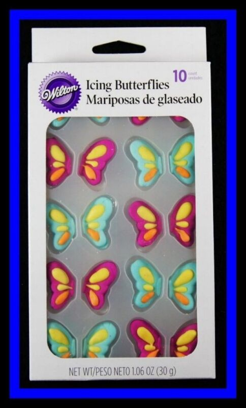 NEW Wilton BUTTERFLY Icing Decorations