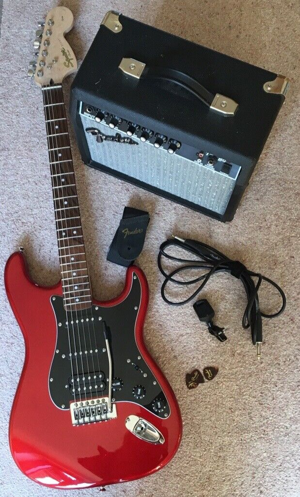 Fender Squier Affinity Stratocaster HSS electric guitar, Fender Amp, gig  bag, tuner, cable, strap | in Wimborne, Dorset | Gumtree