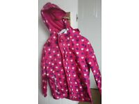 Girls two piece rain suit...aged 7 - 8