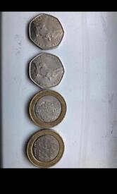 Rare Coins 50p & £2