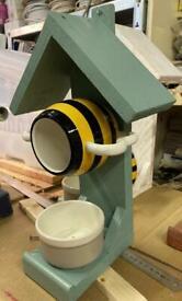 Handmade bird house & feeder