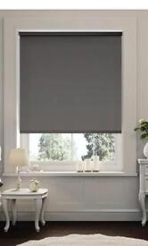 Modern grey roller blind